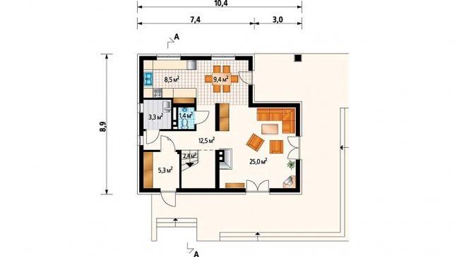 Проект дома-52