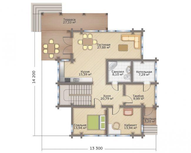Проект дома-517