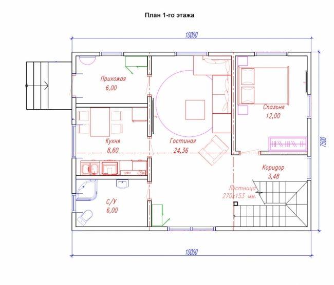 Проект дома-386